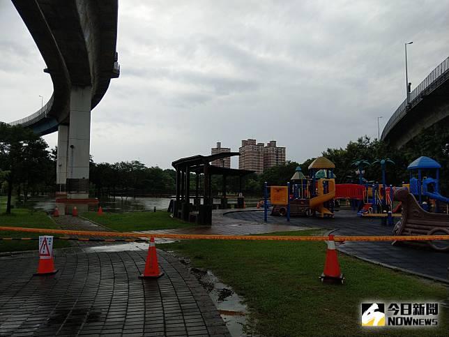 彰化市景觀公園淹水
