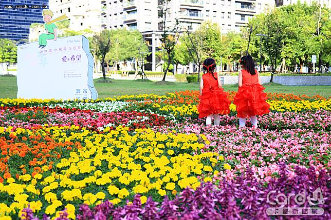 台中花毯節重返新社,主題「愛與希望-小王子的星球之旅」,呈現與玫瑰相逢場景(圖/台中市政府 提供)