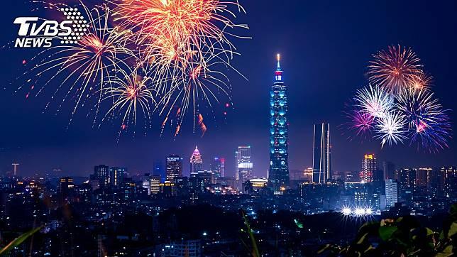 臺北101大樓煙火秀。示意圖/TVBS